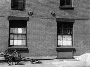 Windows and Cart, New York, 1943 by Brett Weston