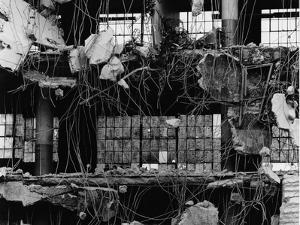 Wrecked Building and Windows, 1976 by Brett Weston