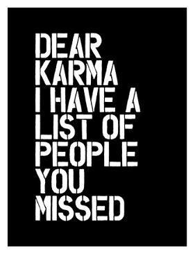 Dear Karma Blk by Brett Wilson