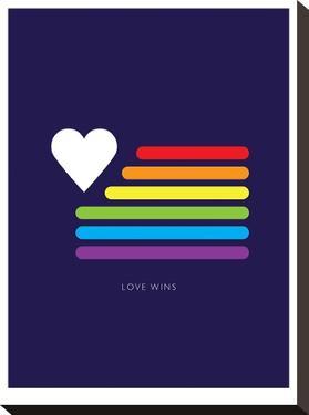 Love Wins Rainbow Flag by Brett Wilson