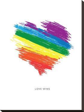 Love Wins Rainbow Scrawl by Brett Wilson