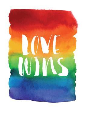 Love Wins Watercolor Rainbow by Brett Wilson