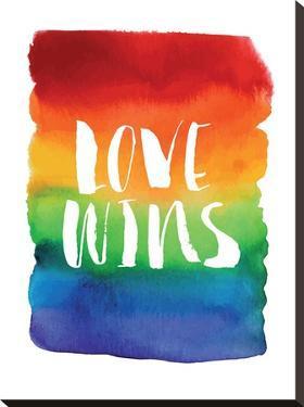 Love Wins Watercolor Rainbow by Brett Wilson
