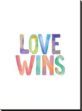 Love Wins Watercolor by Brett Wilson