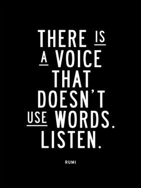 There is a Voice That Doesnt Use Words by Brett Wilson