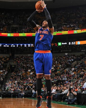 Mar 12, 2014, New York Knicks vs Boston Celtics - Carmelo Anthony by Brian Babineau