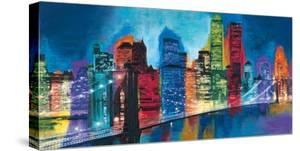 Abstract NYC Skyline at Night by Brian Carter