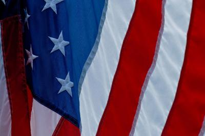A Close-Up of the Flag of the United States of America by Brian Gordon Green