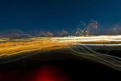 Lobster Boats Illuminated at Night in Bass Harbor, Maine by Brian Gordon Green