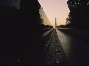 The Vietnam Veterans Memorial at Sunrise by Brian Gordon Green