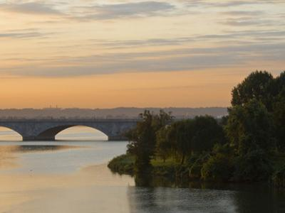 Twilight View of the 14th Street Bridge over the Potomac River by Brian Gordon Green