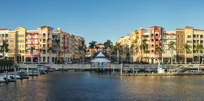 Bayfront of Naples, upscale shops and condominiums on the waterfront, Naples, Florida, USA by Brian Jannsen
