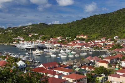 Boats crowd the marina in Gustavia, St. Barths, French West Indies by Brian Jannsen