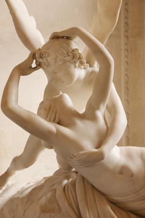 Canova's Statue 'Psyche Revived by Cupid's Kiss' Musee Du Louvre, Paris, France