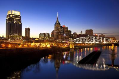 City Skyline at Dusk, Nashville, Tennessee, USA by Brian Jannsen