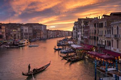 Colorful evening over the Grand Canal and city of Venice, Veneto, Italy by Brian Jannsen