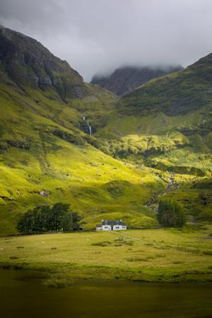 Country Home Below the Mountains of Glencoe, Highlands, Scotland by Brian Jannsen