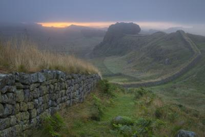 Dawn at Hadrians Wall Near Housesteads, Northumberland, England by Brian Jannsen