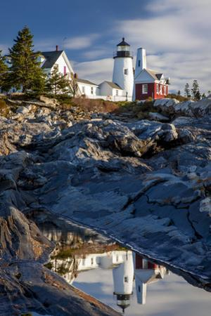 Early morning on the rocks below Pemaquid Point Lighthouse near Bristol, Maine, USA by Brian Jannsen
