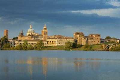 Early morning over Medieval town of Mantova and Lago Inferiore, Lombardy, Italy by Brian Jannsen
