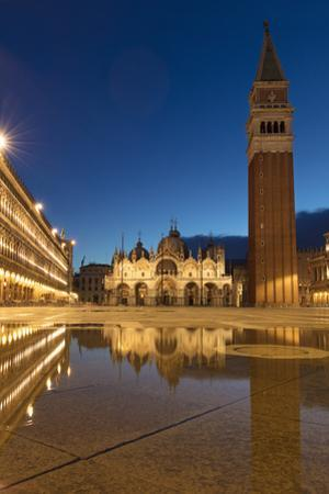 Early morning reflections, Piazza San Marco, Venice, Veneto, Italy by Brian Jannsen
