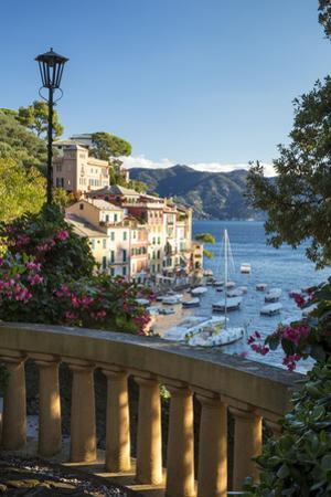 Early morning view over harbor town of Portofino, Liguria, Italy by Brian Jannsen