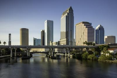 Hillsborough River and the Skyline of Tampa, Florida, Usa by Brian Jannsen