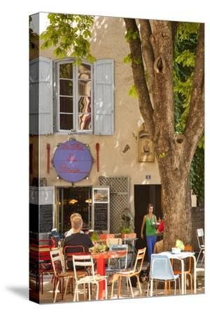 Outdoor Cafe in the Town of Saint Remy De-Provence, France by Brian Jannsen