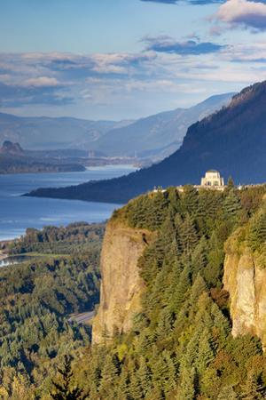 Overlooking the Vista House and the Columbia River Gorge, Oregon USA by Brian Jannsen