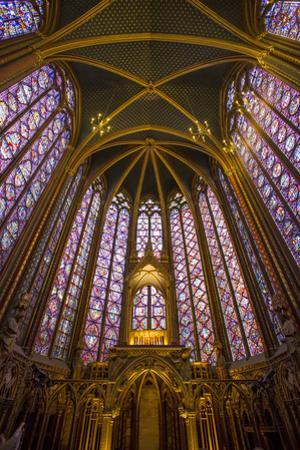 Stained Glass Windows of Sainte Chappelle, Paris, France by Brian Jannsen