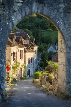 Sunset on Home, Saint-Cirq-Lapopie, Lot Valley, Midi-Pyrenees, France by Brian Jannsen