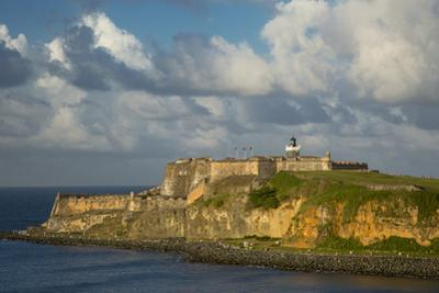 Sunset over Fortress El Morro, Old Town, San Juan, Puerto Rico by Brian Jannsen