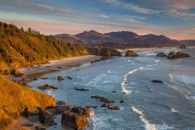 Sunset over the Coastline Near Cannon Beach, Oregon, USA by Brian Jannsen
