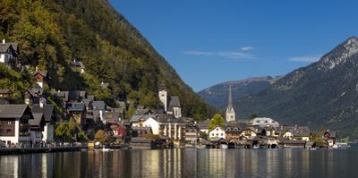 Town of Hallstatt, Hallstattersee, Saltzkammergut, Austria by Brian Jannsen