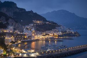 Twilight over Amalfi Along the Amalfi Coast, Campania, Italy by Brian Jannsen