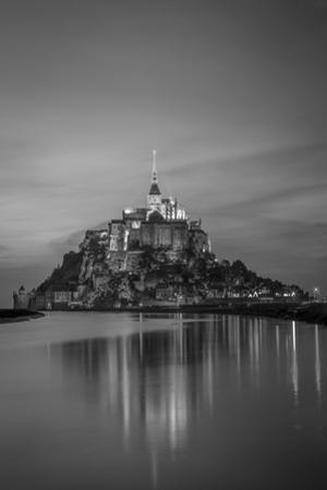 Twilight over Le Mont Saint Michel, Normandy, France by Brian Jannsen