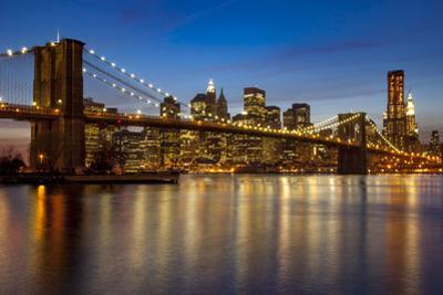 Twilight over New York City skyline and the East River viewed from Brooklyn, New York, USA by Brian Jannsen