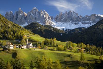 Val Di Funes, Santa Maddalena and Geisler Spitzen, Dolomites, Italy by Brian Jannsen