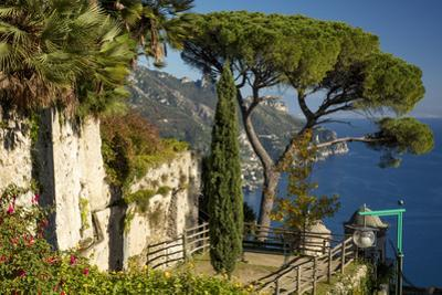 View over Gulf of Salerno from Villa Rufolo, Ravello, Campania, Italy by Brian Jannsen