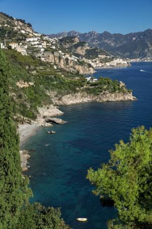 View toward Amalfi along the Amalfi Coast, Campania, Italy by Brian Jannsen