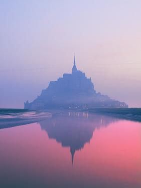 Mont St Michel at Dawn by Brian Lawrence