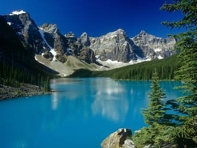 Moraine Lake and the Rockies by Brian Lawrence