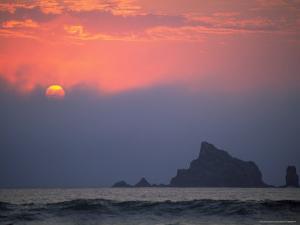 Sunset, Rialto Beach, Olympic National Park, WA by Brian Maslyar