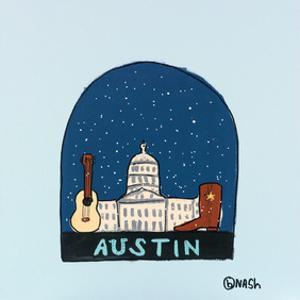Austin Snow Globe by Brian Nash