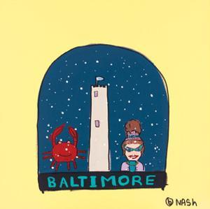 Baltimore Snow Globe by Brian Nash