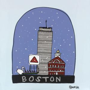 Boston Snow Globe by Brian Nash
