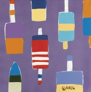 Buoys Purple by Brian Nash
