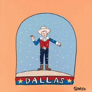 Dallas Snow Globe by Brian Nash