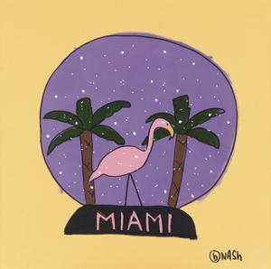 Miami Snow Globe by Brian Nash