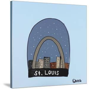 St. Louis Snow Globe by Brian Nash